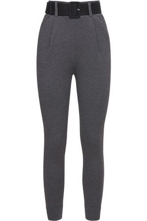 SELF-PORTRAIT Mujer Pantalones y Leggings - | Mujer Pantalones De Punto De Viscosa Con Cinturón 4