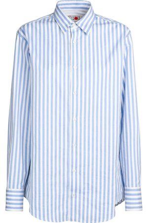 Maison Margiela Mujer Camisas - | Mujer Camisa De Popelina De Algodón Con Rayas /blanco 36