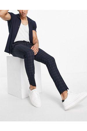 New Look Pantalones de vestir a cuadros de corte entallado de
