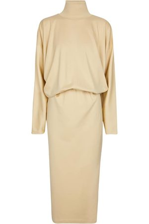 LEMAIRE Vestido de algodón de cuello alto
