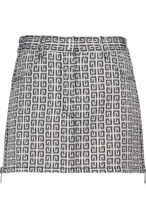 Givenchy Falda corta de jacquard efecto denim