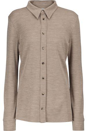 Bottega Veneta Camisa de lana virgen