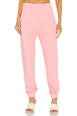 SNDYS Pantalón deportivo flix en color talla L en - Pink. Talla L (también en XS, S, M).