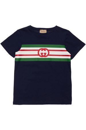 Gucci | Niña Camiseta De Jersey Estampado Con Logo Gg 8a