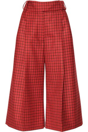 ALEXANDRE VAUTHIER   Mujer Pantalones Cropped De Lana A Cuadros 34