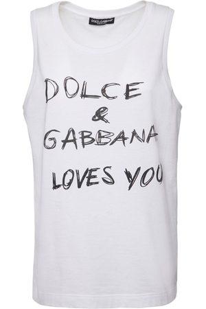 Dolce & Gabbana Mujer Tops - | Mujer Top De Popelina De Algodón Con Estampado /negro 36