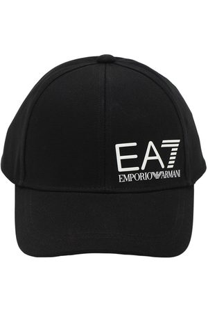 EA7 Hombre Gorras - | Hombre Gorra De Baseball De Lona De Algodón Con Logo Unique