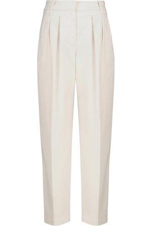 Brunello Cucinelli Pantalones de algodón elastizado