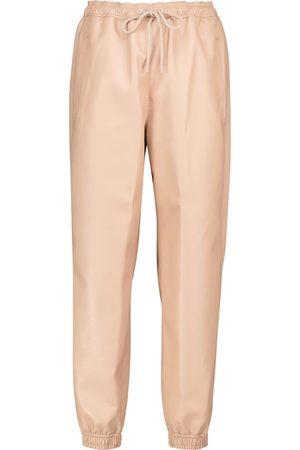 Stella McCartney Pantalones de chándal de piel sintética