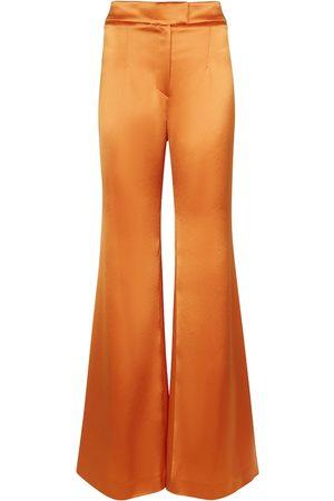 GALVAN Pantalones anchos Julianne de satén