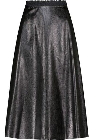 Moncler Falda midi de piel sintética