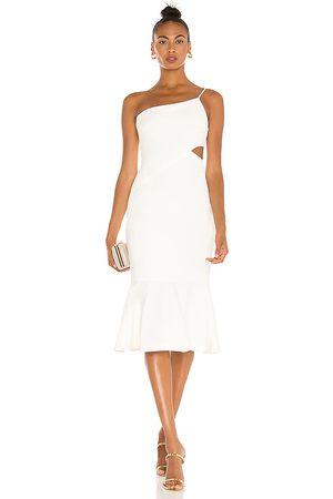 LIKELY Vestido midi fina en color talla 0 en - White. Talla 0 (también en 00, 2, 4, 6, 8, 10).