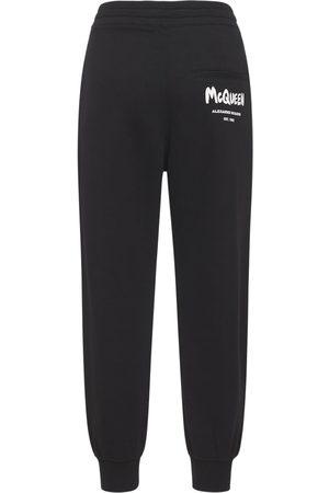 Alexander McQueen Mujer Joggers -   Mujer Pantalones Jogger De Algodón Jersey Con Logo /blanco 38