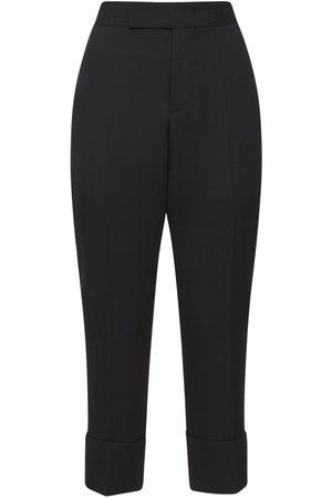 SAPIO   Mujer Pantalones Cropped De Lana 38