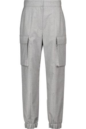 Brunello Cucinelli Pantalones de chándal de franela de lana