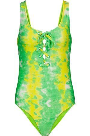 Ganni Bañador con estampado tie-dye