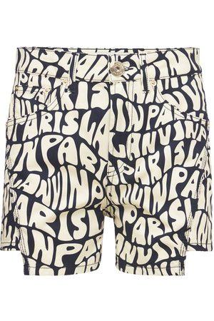 Lanvin Mujer Vaqueros -   Mujer Shorts De Denim Con Logo Estampado /blanco 34