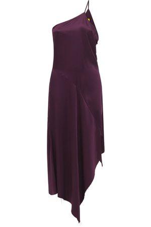 MARQUES'ALMEIDA | Mujer Vestido Midi Asimétrico De Crepé De Seda 10