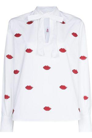 VALENTINO Camisa con estampado de labios