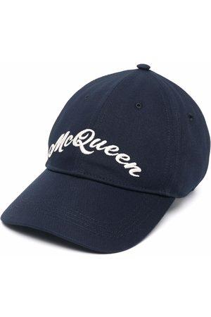 Alexander McQueen Gorra con logo bordado