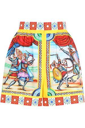 Dolce & Gabbana Shorts de talle alto con estampado gráfico