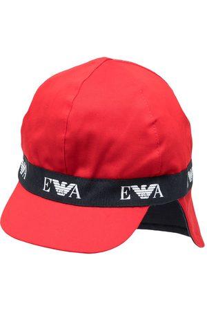 Emporio Armani Sombrero de verano con franja del logo