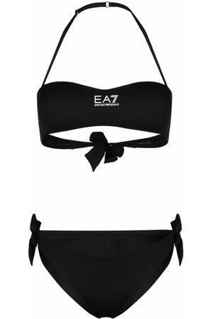 EA7 Bikini con cuello halter