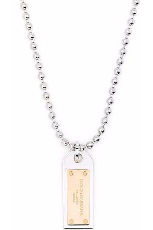 Dolce & Gabbana Collar con placa y motivo militar