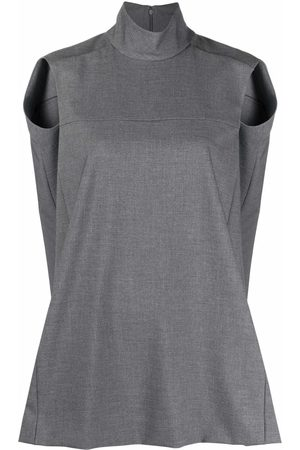 Nina Ricci Top sin mangas con cuello alto
