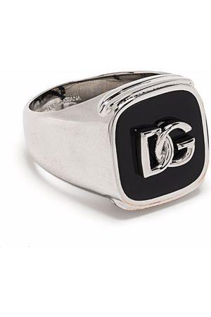 Dolce & Gabbana Anillo y sello con logo en relieve
