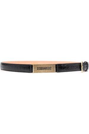 Dsquared2 Cinturón con efecto de piel de cocodrilo