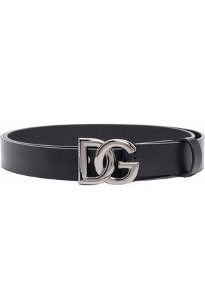 Dolce & Gabbana Hombre Cinturones - Cinturón con hebilla con logo DG