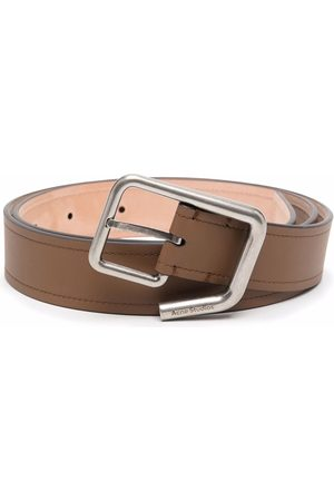 Acne Studios Cinturón con hebilla y logo grabado