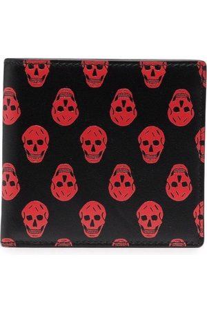 Alexander McQueen Skull-print leather wallet
