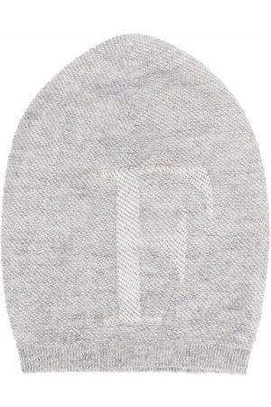 Fabiana Filippi Embroidered-logo knitted beanie