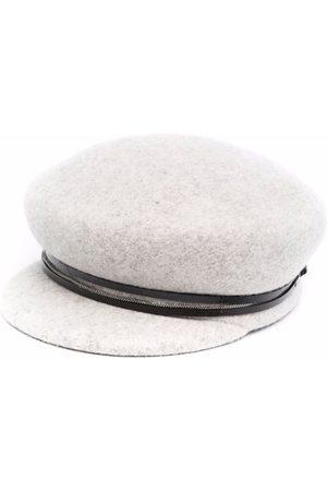 Fabiana Filippi Bead-detail structured basque hat