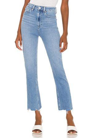 Paige Mujer Cintura alta - Ultra high rise cindy jean en color azul talla 24 en - Blue. Talla 24 (también en 25, 26, 27, 28, 29, 30).