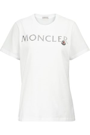 Moncler Camiseta de punto de algodón con logo