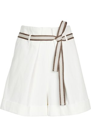 Brunello Cucinelli Mujer Pantalones cortos - Exclusivo en Mytheresa - pantalones cortos de algodón y lino