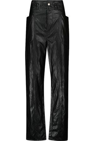 Isabel Marant, Étoile Mujer Pantalones de cuero - Pantalones Tessini de piel sintética