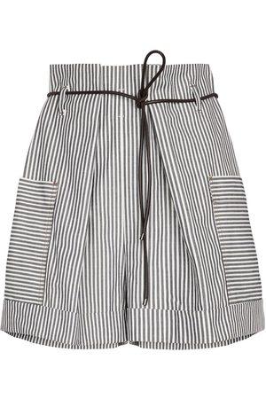 Brunello Cucinelli Mujer Pantalones cortos - Exclusivo en Mytheresa - shorts paperbag de algodón elástico