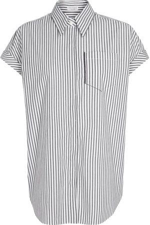 Brunello Cucinelli Exclusivo en Mytheresa - camisa de algodón elástico