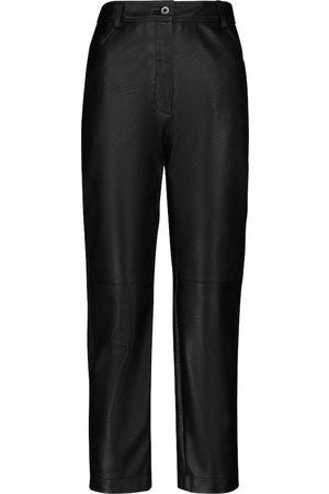 Stella McCartney Pantalones Hailey de piel sintética tiro alto