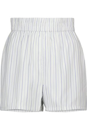 RTA Pantalones cortos Edwinna de seda a rayas