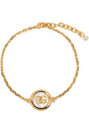 Dolce & Gabbana Logo-plaque chain-link braclet
