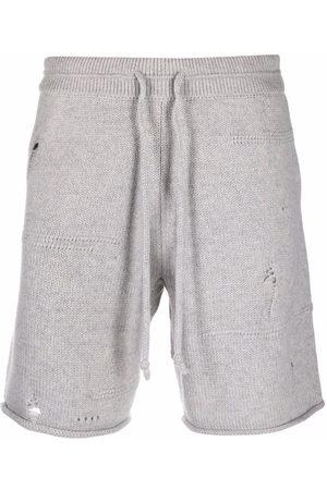 Helmut Lang Pantalones cortos de chándal con efecto envejecido