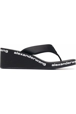 Alexander Wang Logo-print wedge sandals