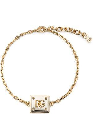 Dolce & Gabbana Logo-plaque chain-link bracelet