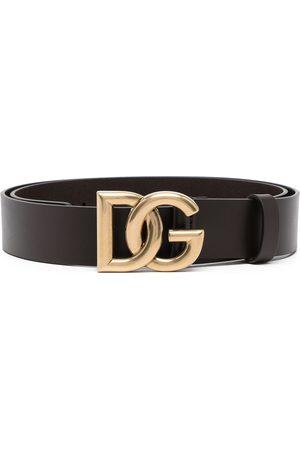 Dolce & Gabbana Hombre Cinturones - Logo-buckle leather belt