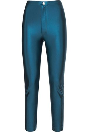KOCHÉ | Mujer Pantalones Skinny Fit De Satén Con Cintura Alta Xs